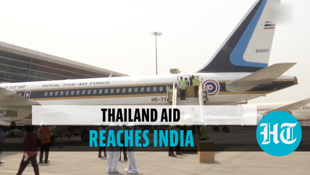 Watch: Special flight carrying medical aid from Thailand lands in New Delhi