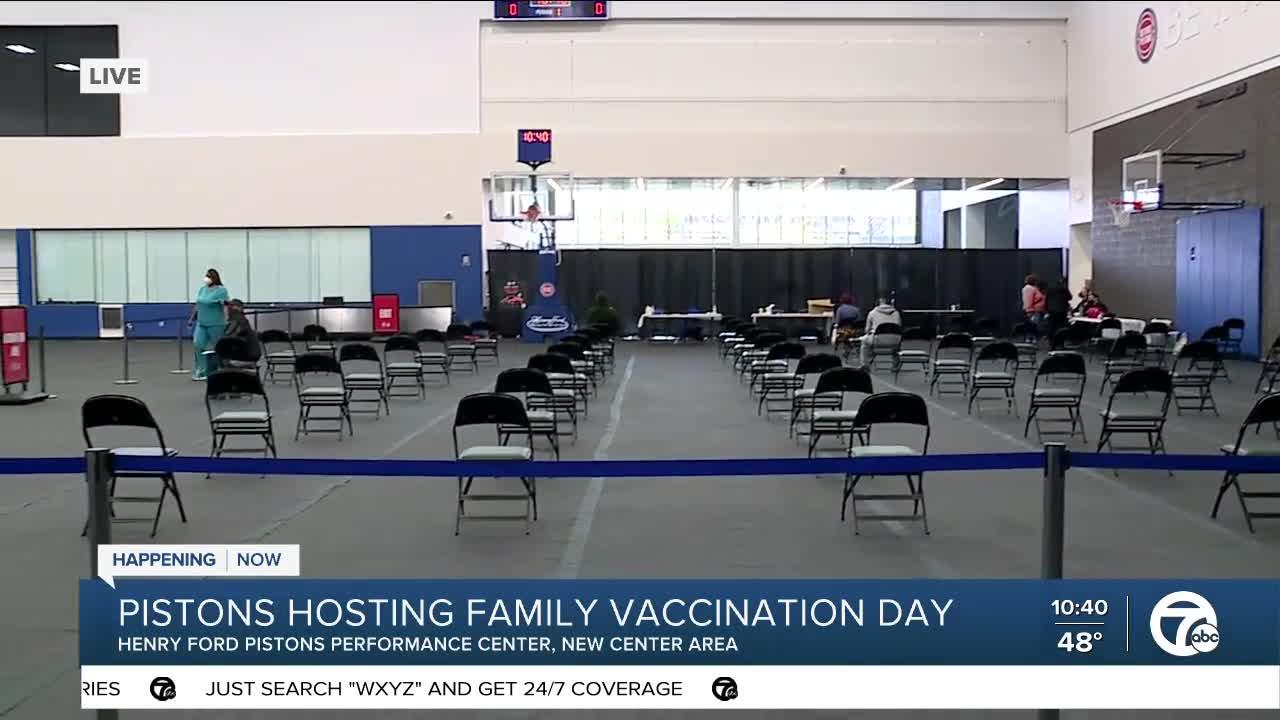 Pistons Host Covid Vaccination Clinic
