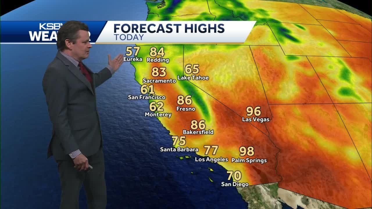 Cooler today; warming trend beginning Sunday.