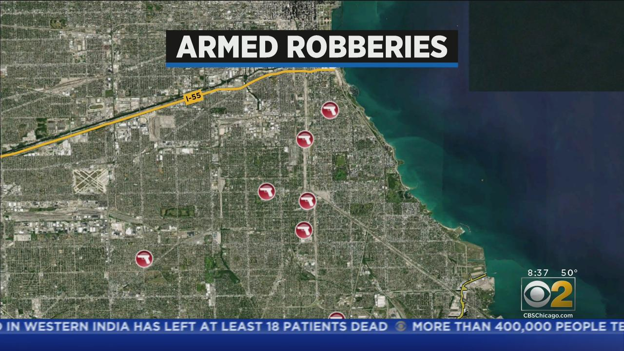 Armed Robbery Spree Crosses Six South Side Neighborhoods