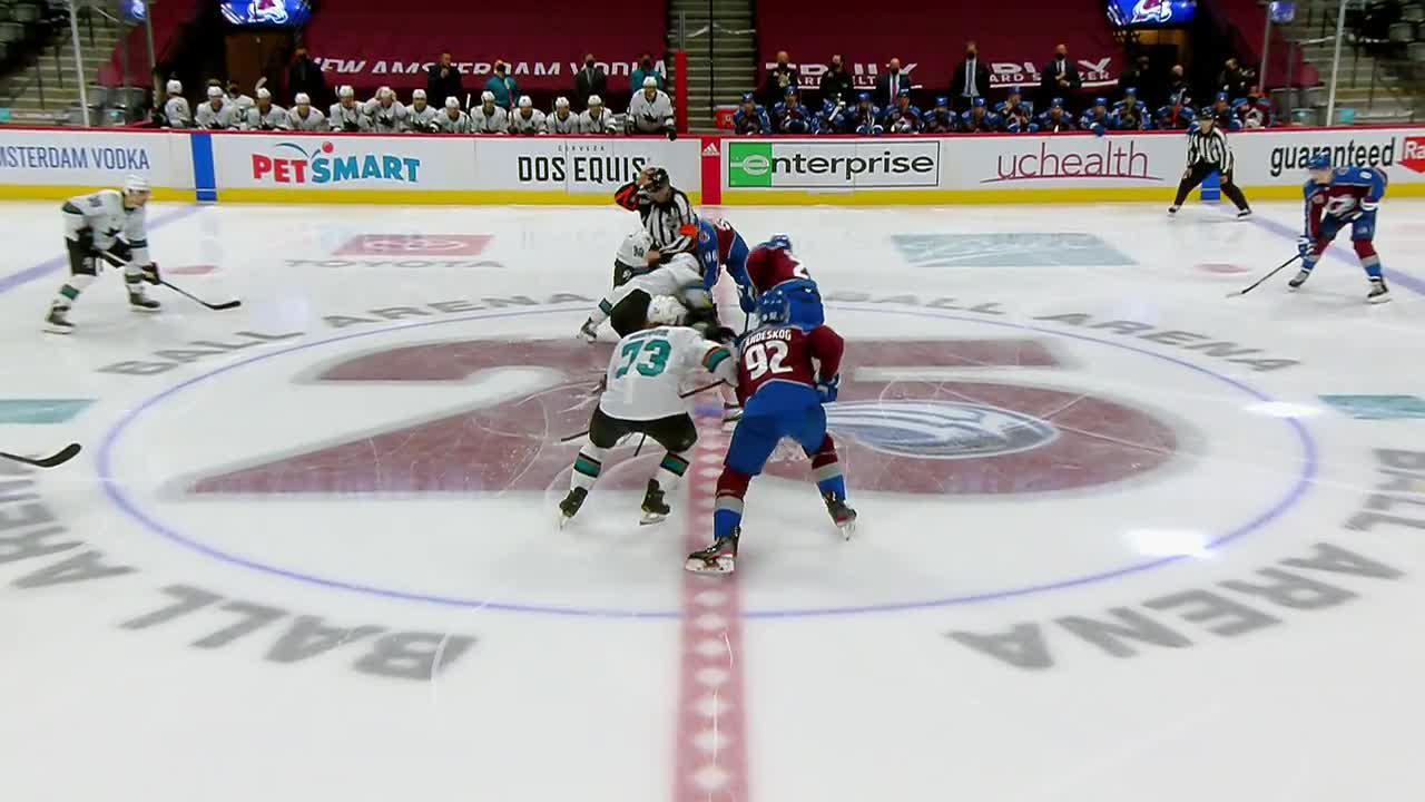 Colorado Avalanche vs. San Jose Sharks - Game Highlights