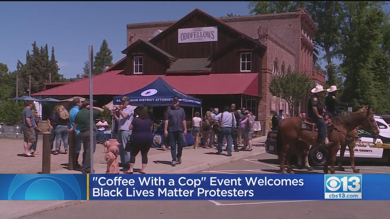 'Coffee With A Cop' Event Welcomes BLM Protesters