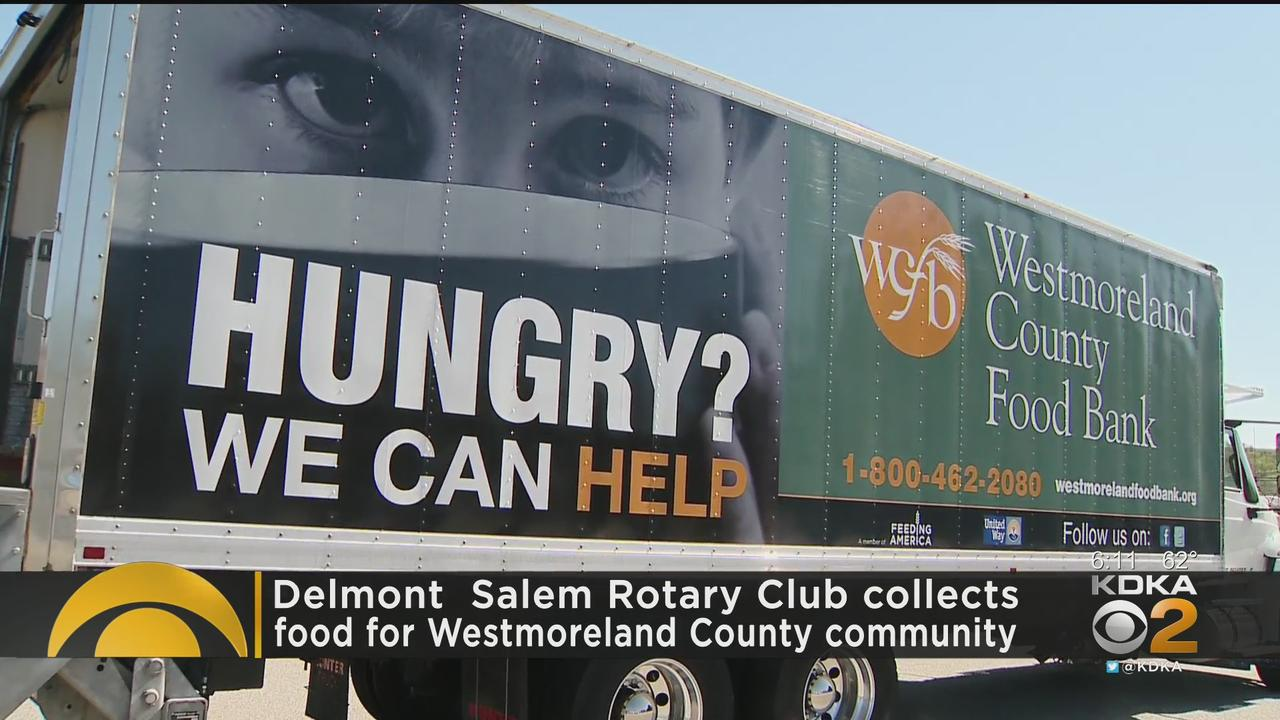 Delmont Salem Rotary Club Collects Food For Westmoreland County Community