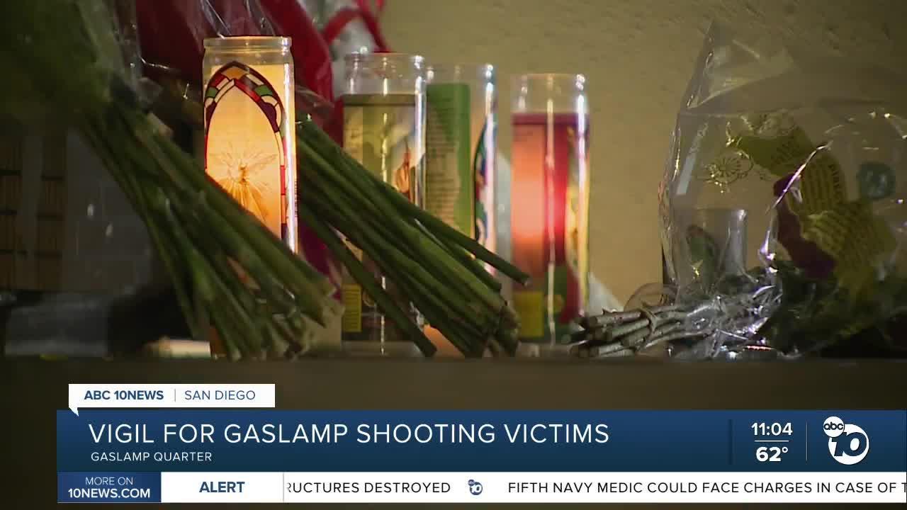 Anti-gun violence groups host vigil for Gaslamp Quarter shooting victimes