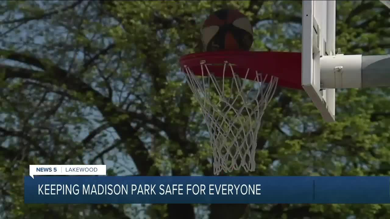 Block party at Lakewood's Madison Park aims to address safety, racial issues regarding basketball court
