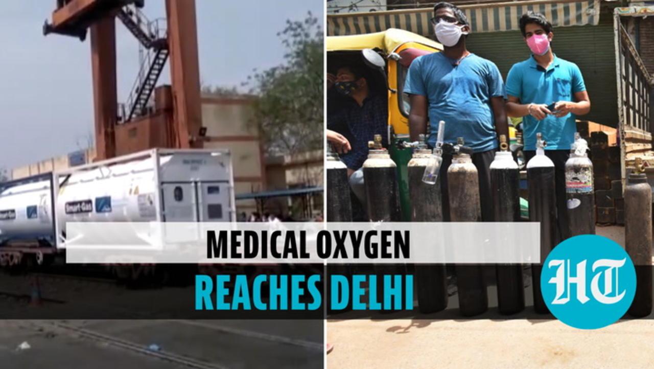 Watch: 'Oxygen Express' arrives in Delhi with 120MT liquid medical oxygen