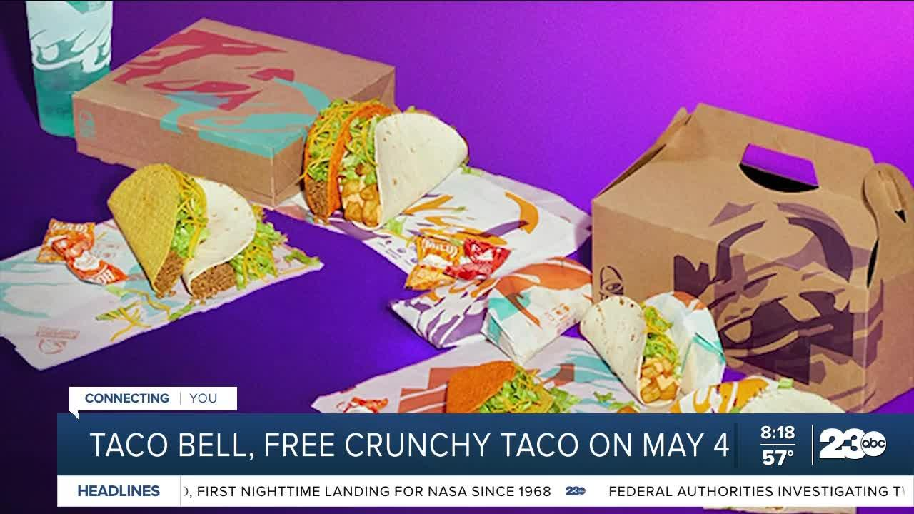 Free Taco Bell crunchy taco on May 4
