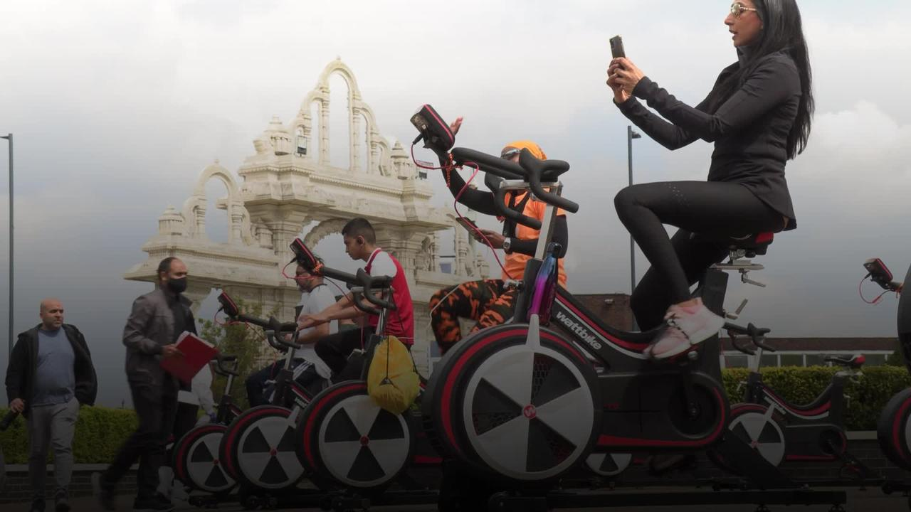 London temple cycles to help fundraise for Covid-19 India relief