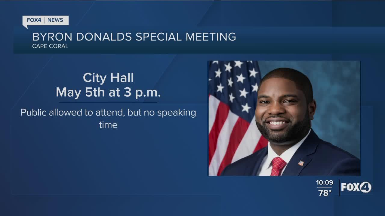 Rep. Byron Donalds scheduled to be in the Cape Wednesday