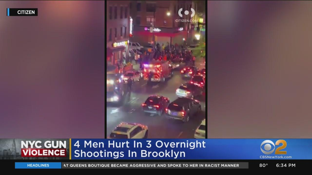 4 Men Wounded In Overnight Shootings In Brooklyn
