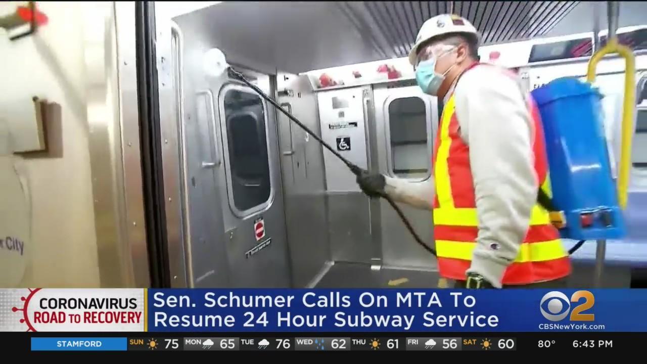 Sen. Schumer: NYC Needs To Restore 24-Hour Subway Service