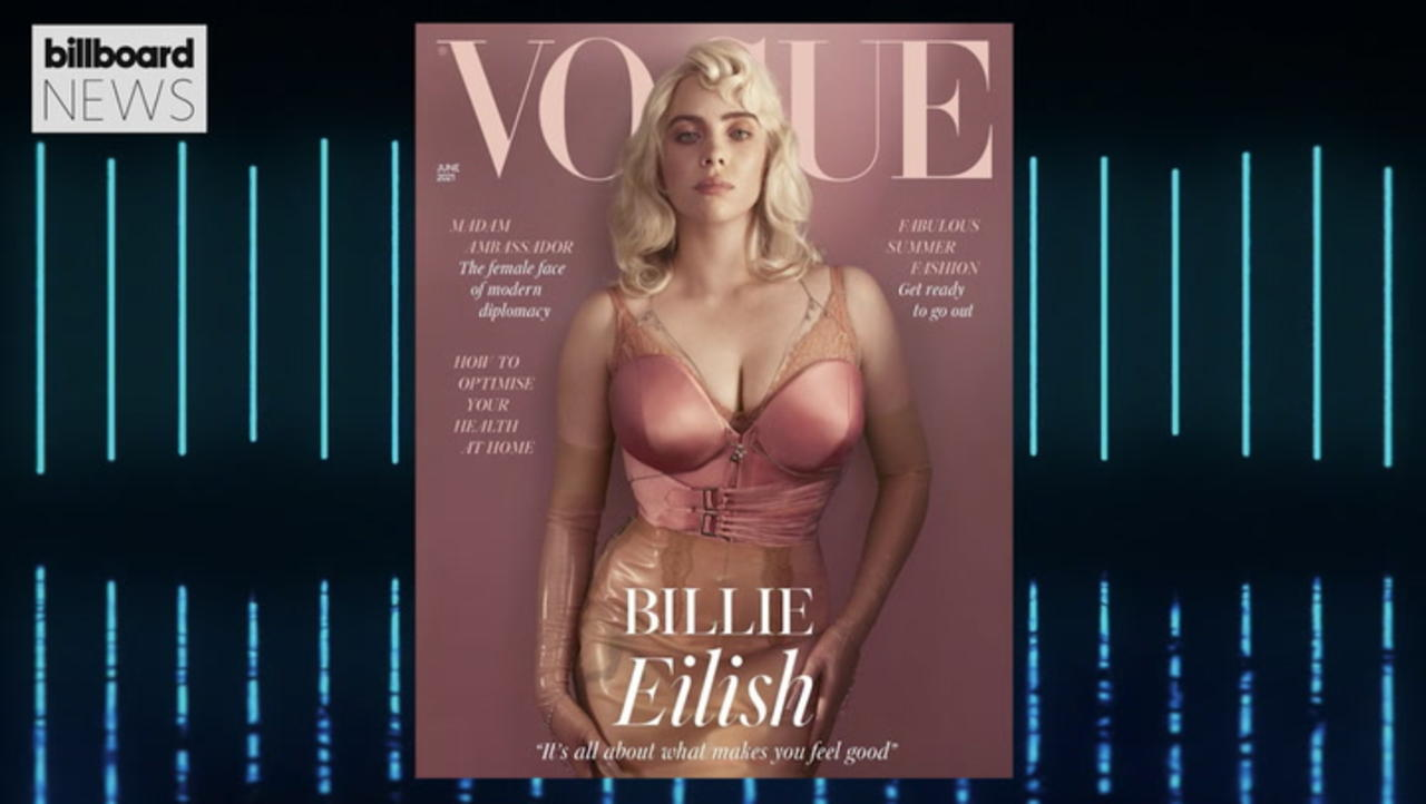 Billie Eilish Models Lingerie For 'British Vogue' & Opens Up About Abuse and Power   Billboard News