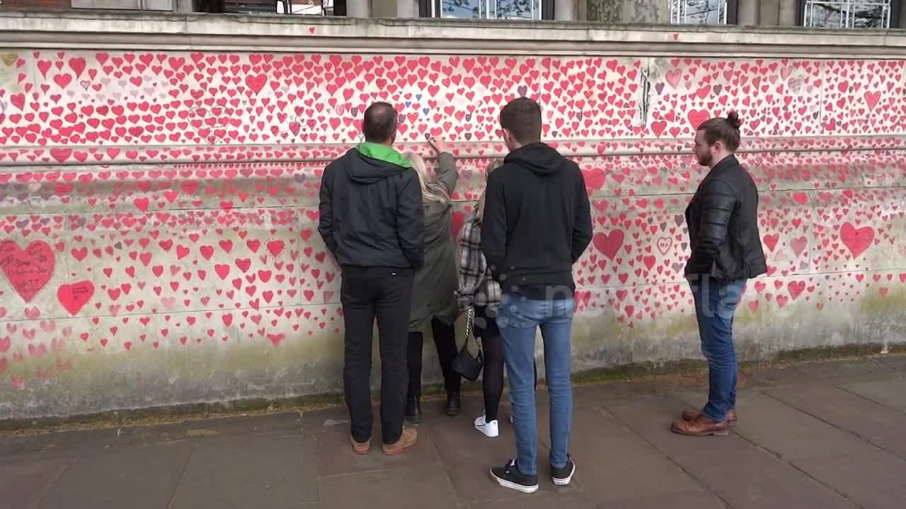 National COVID Memorial Wall in London pays tribute to lives lost during pandemic