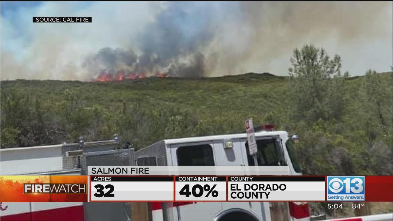 Progress Made In Fires In Calaveras, El Dorado Counties