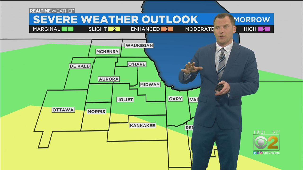 Chicago Weather: Minor Threat Of Severe Storms On Monday