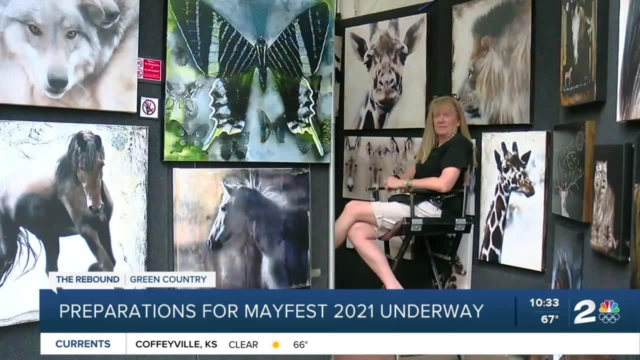 Preparations are underway for Mayfest as it returns to Tulsa