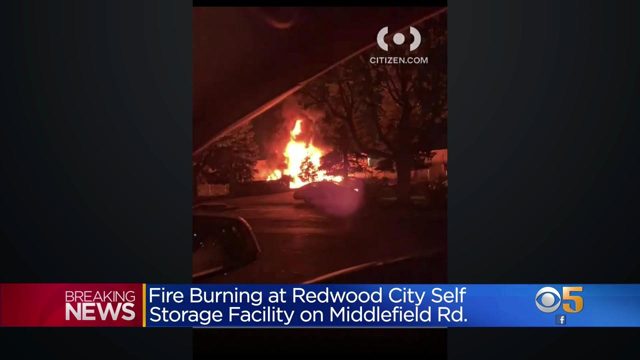 Crews Respond to Fire Burning at Redwood City Storage Facility