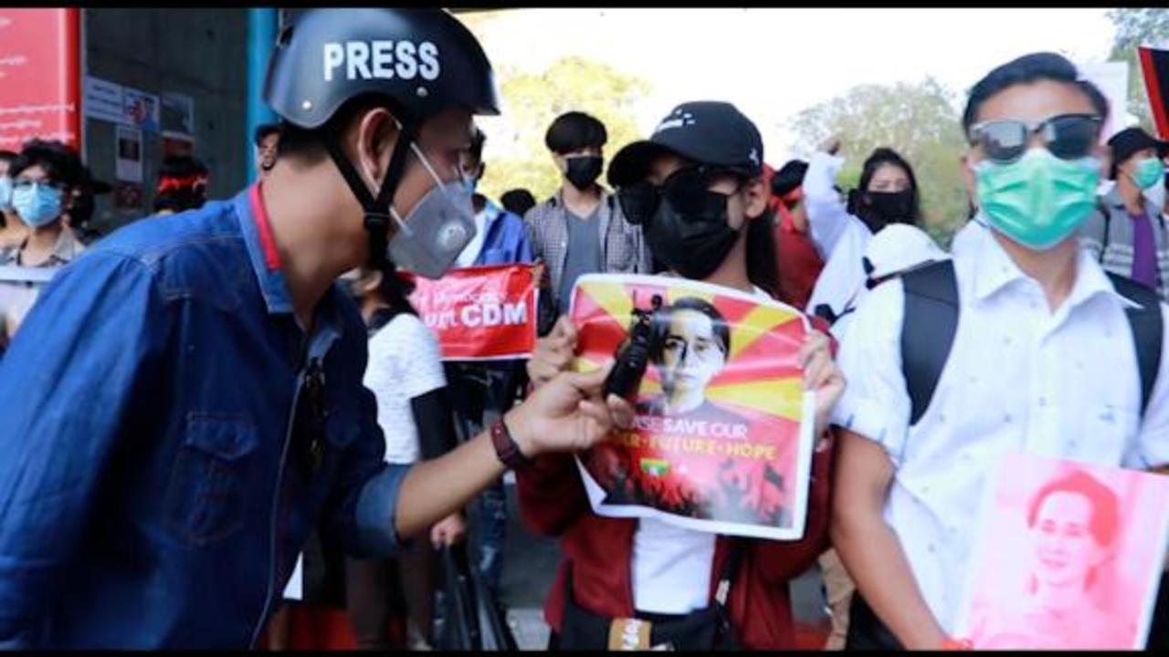 Myanmar's journalists face 'humanitarian crisis' as crackdown intensifies