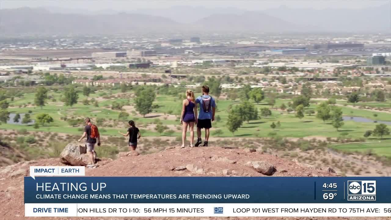 Climate change means that Arizona is heating up