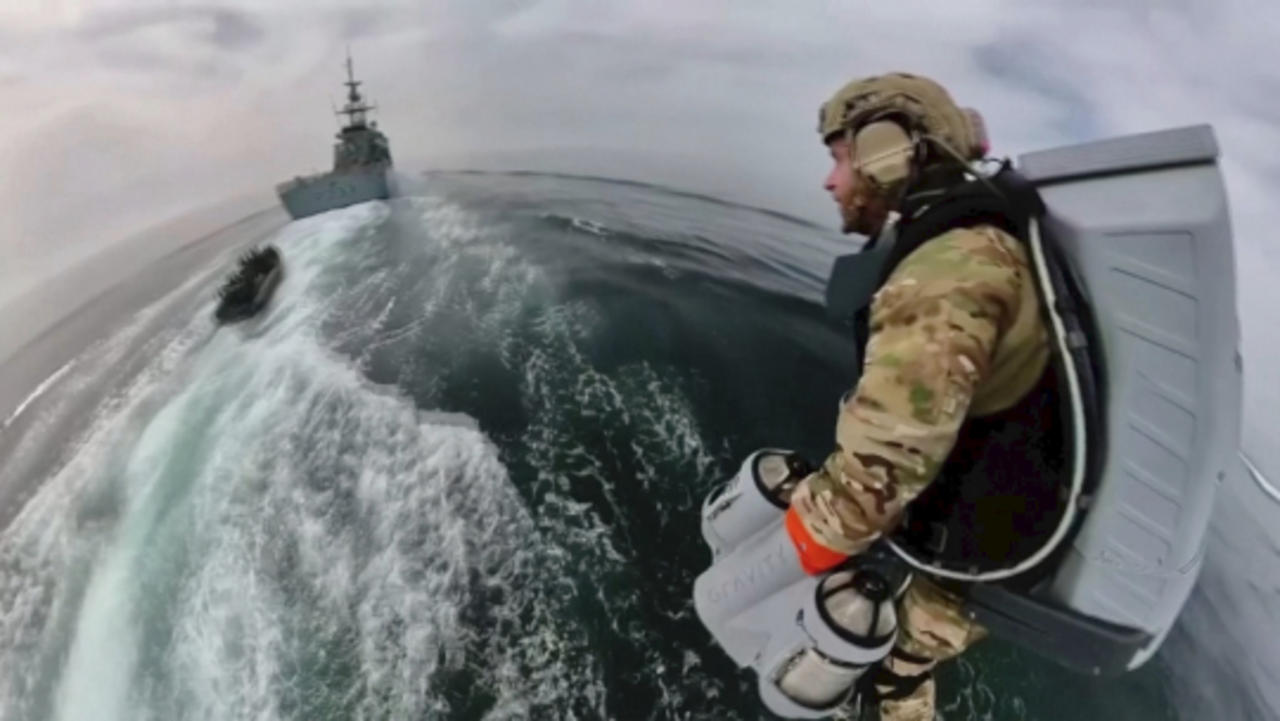 Marines Train With Jet Suit-Wearing 'Iron Man' in Military Drills on the Ocean