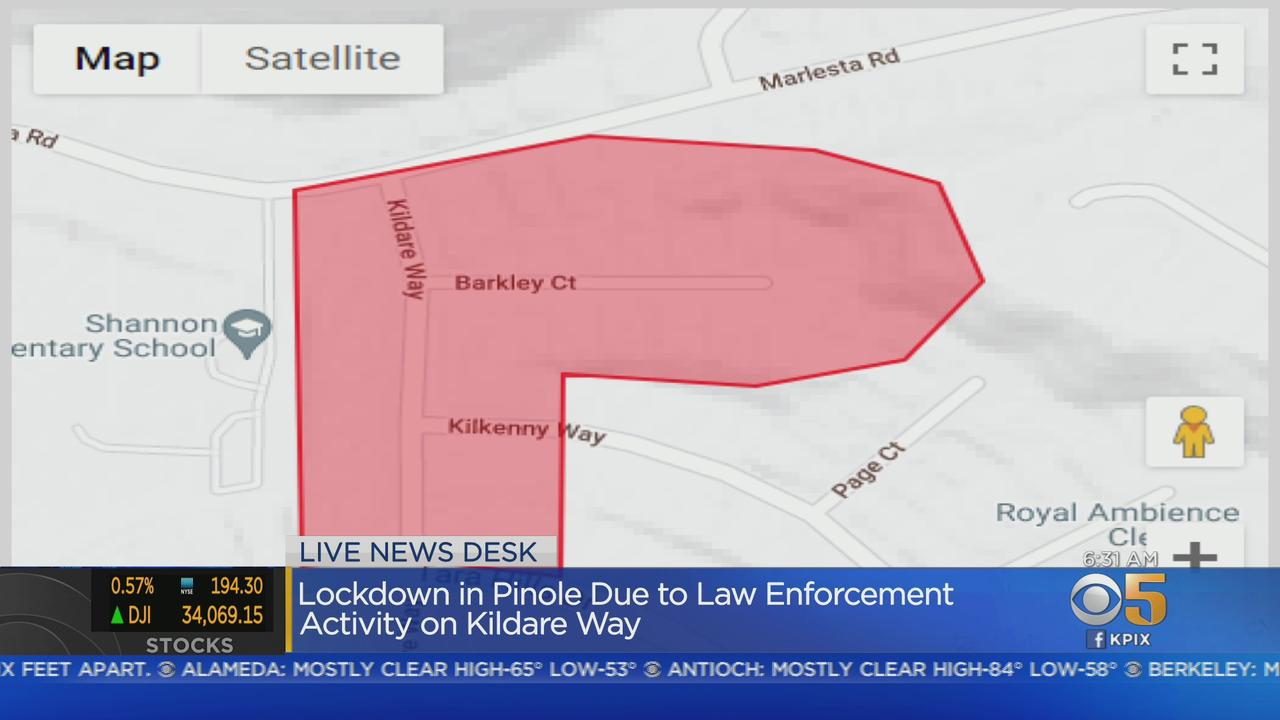 PINOLE LOCKDOWN:  Residents in a Pinole neighborhood told to shelter-in-place by police