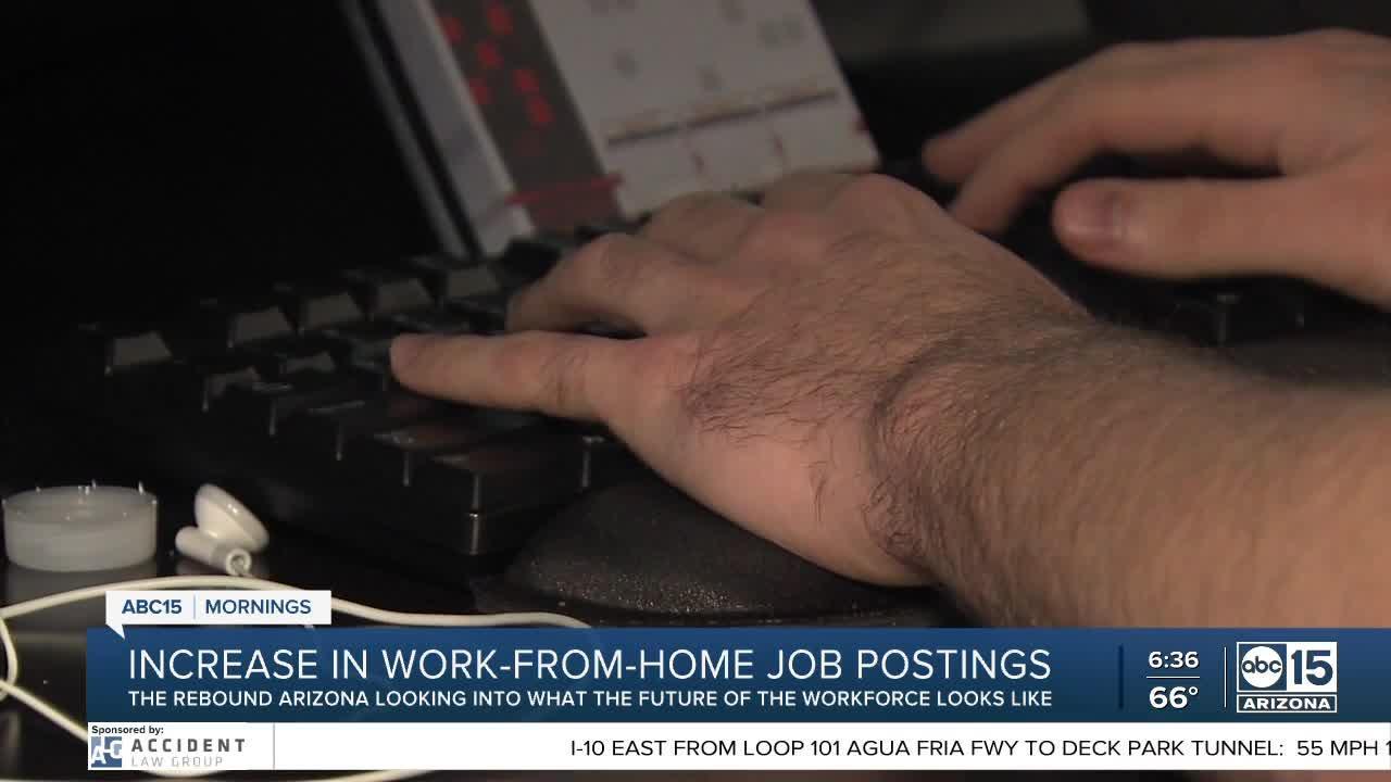 Increase in work-from home job postings