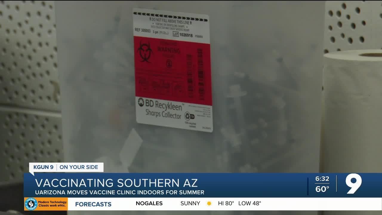 University of Arizona COVID-19 vaccination site moves indoors