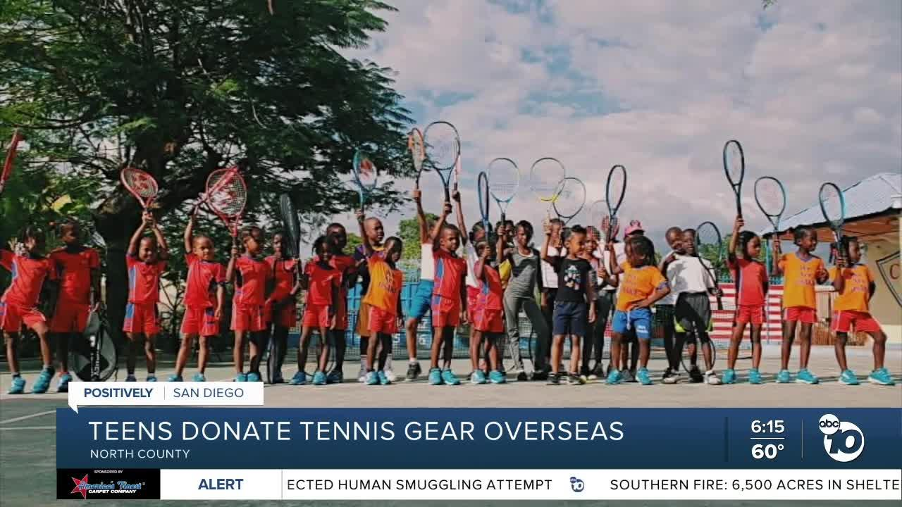 Nonprofit run by San Diego teens gives tennis gear to under-served countries