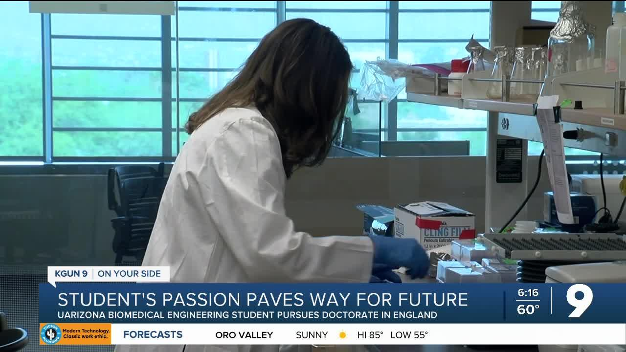 UArizona student's passion for science paves the way for a bright future