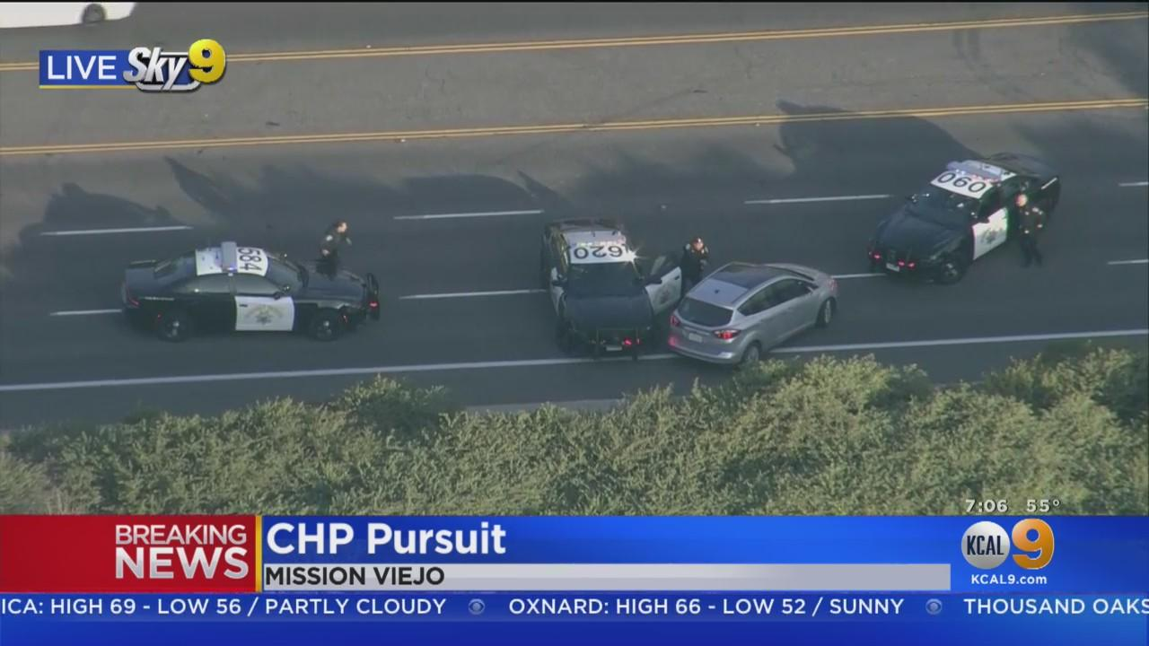 CHP Uses PIT Manuever To End Chase In Mission Viejo