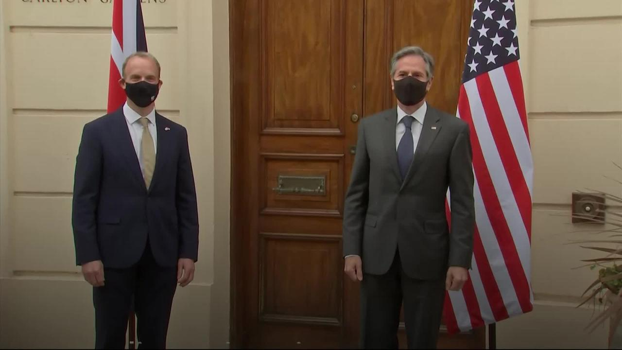 Dominic Raab meets US secretary of state Antony Blinken