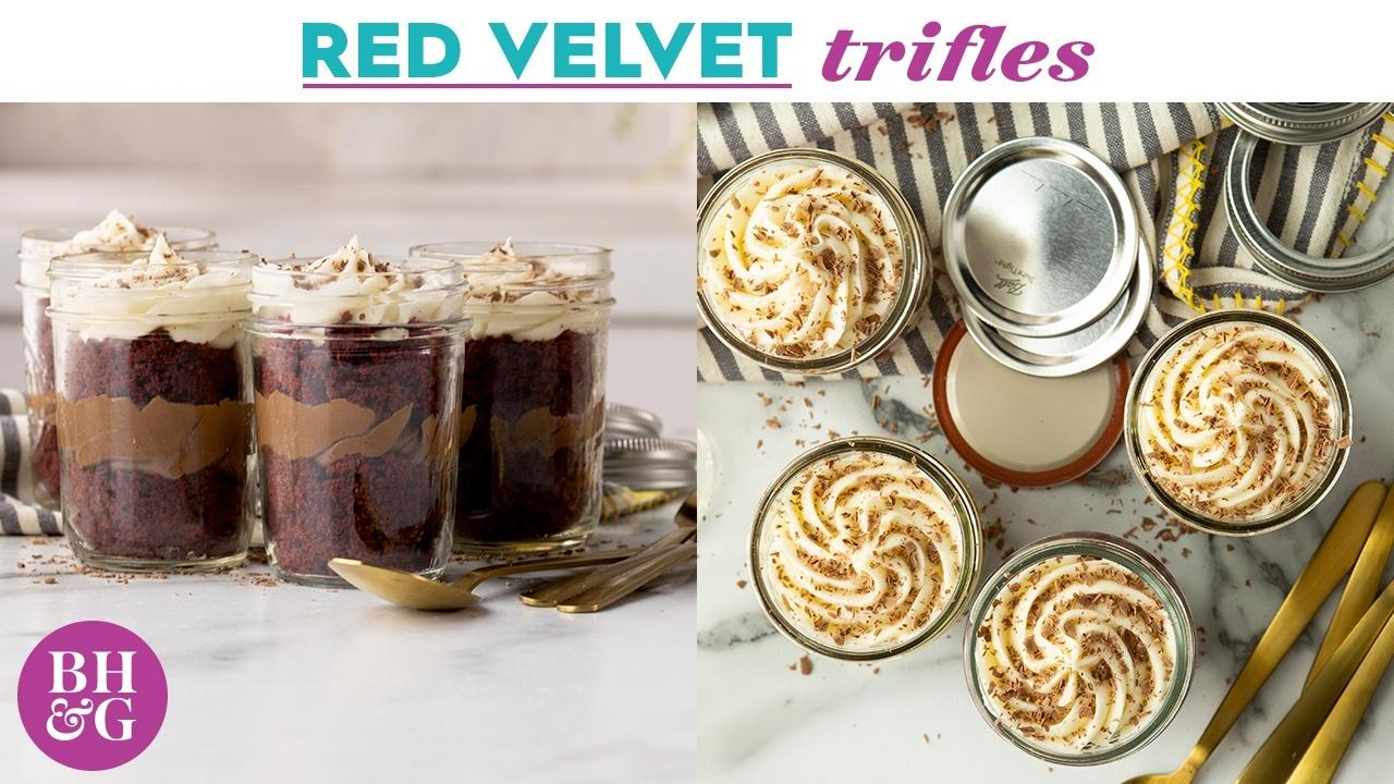 How to make Red Velvet Mini Trifles | Eat This Now | Better Homes & Gardens