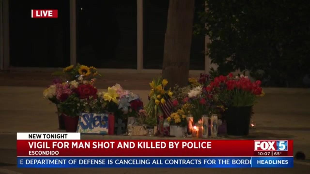 At community vigil, relatives of California man killed by police demand justice