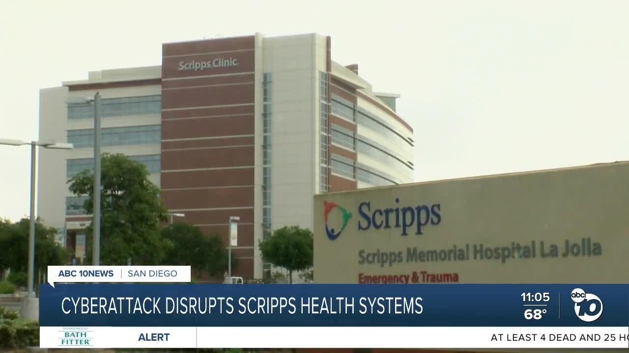 Cyberattack disrupts Scripps Health systems