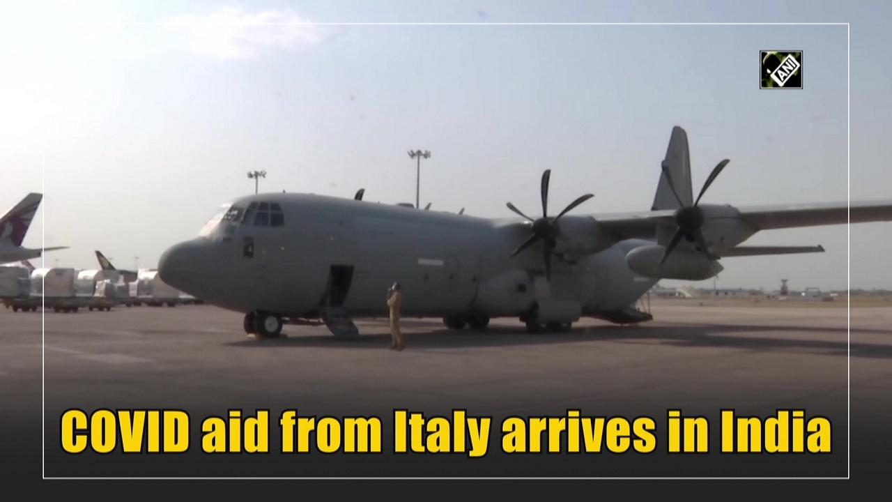 COVID aid from Italy arrives in India