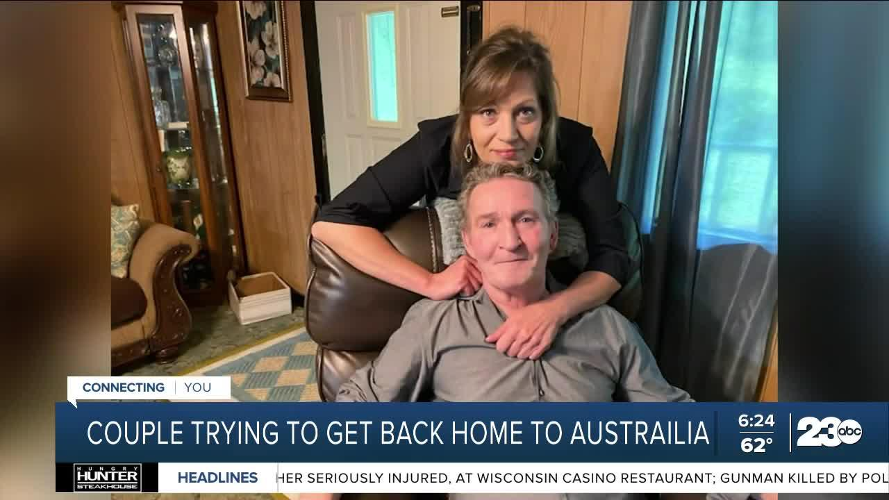 Couple trying to get back home to Australia