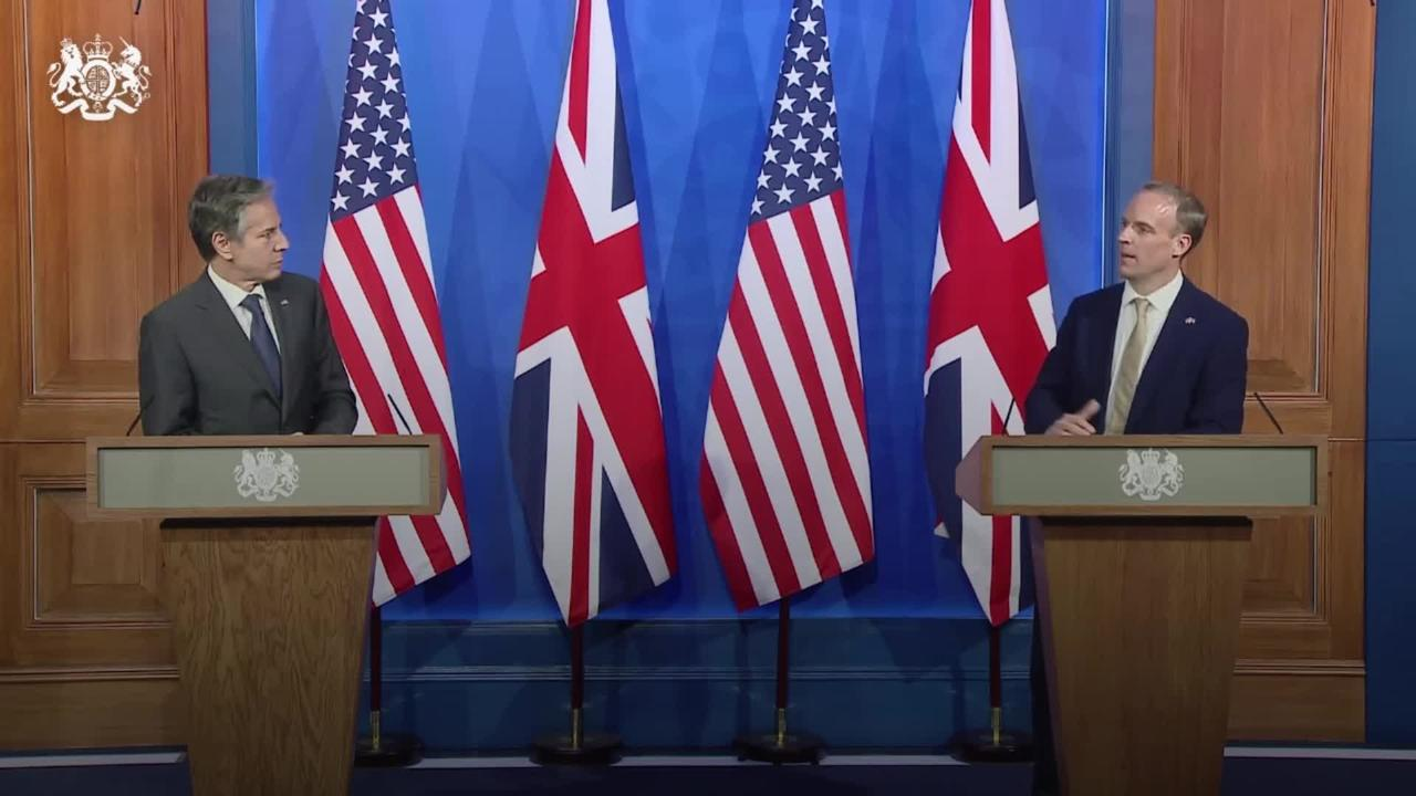 Raab speaks of 'like-minded countries' after G7 meeting with US counterpart