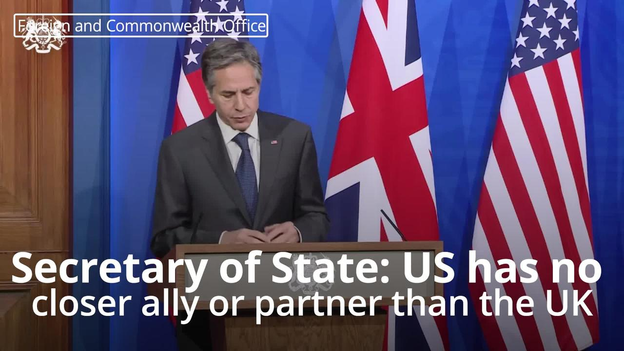 US has no closer ally or partner than the UK – Secretary of State