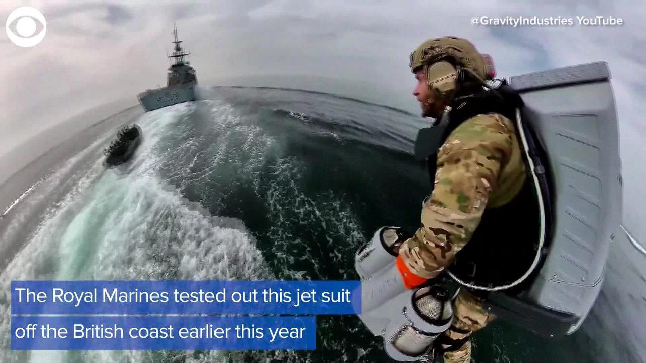 WEB EXTRA: Britain's Royal Marines Test Jet Suit