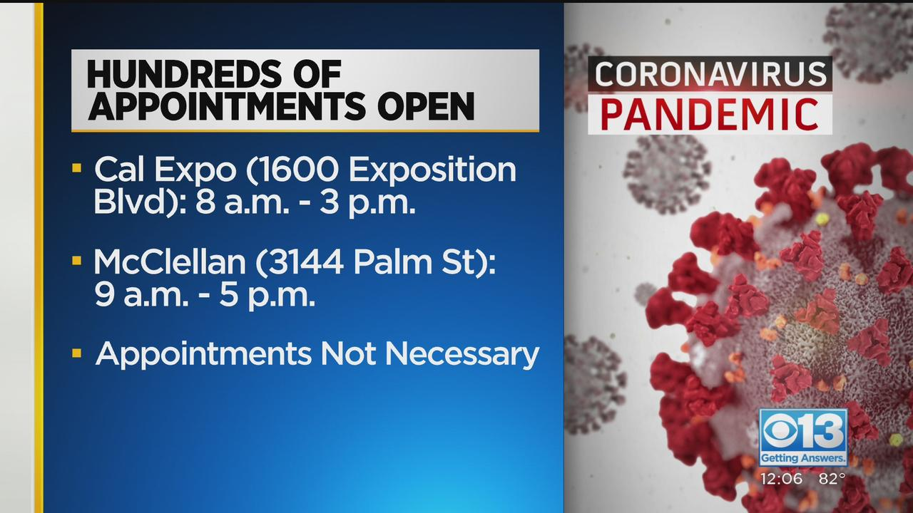 Hundreds Of Sacramento County COVID-19 Vaccine Appointments Open