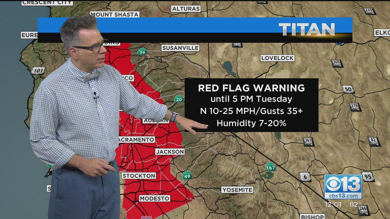 Red Flag Warning In Effect For NorCal Through Tuesday