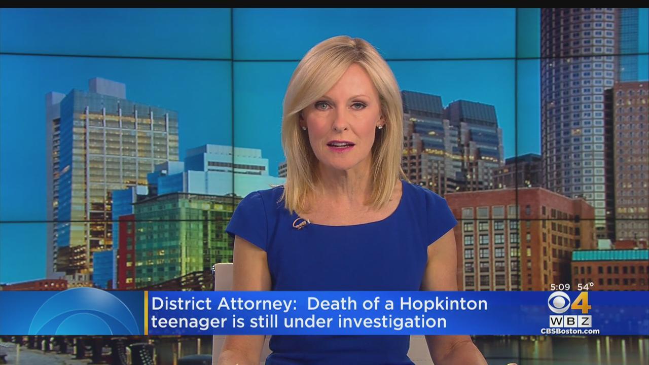 DA: Death Of Hopkinton Teen Under Investigation