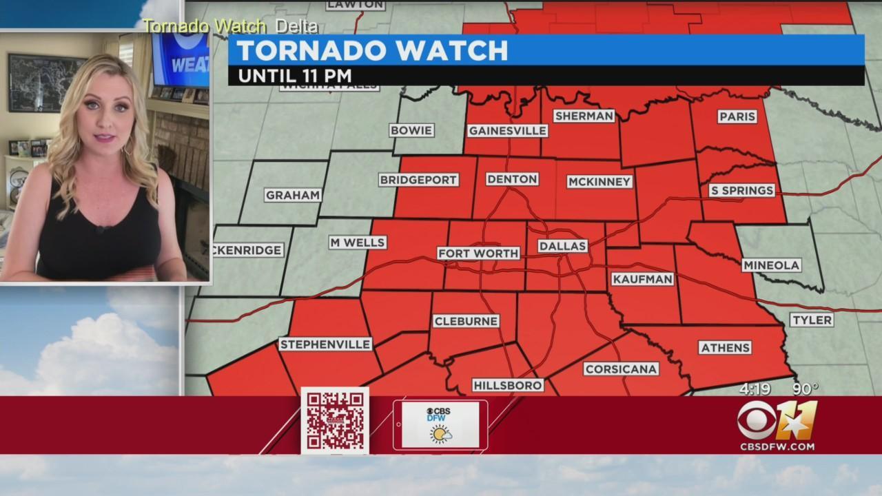 Most Of North Texas Under Tornado Watch Until 11 P.M.