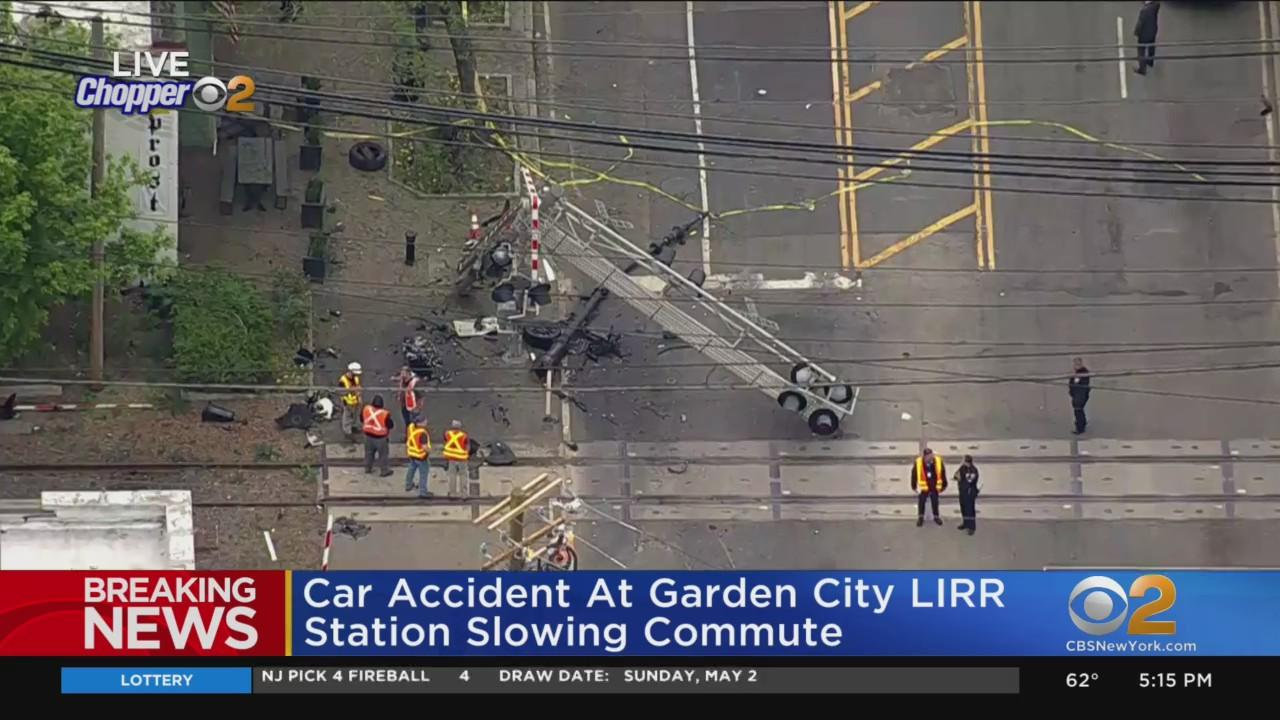 Car Accident At Garden City LIRR Station Slowing Commute