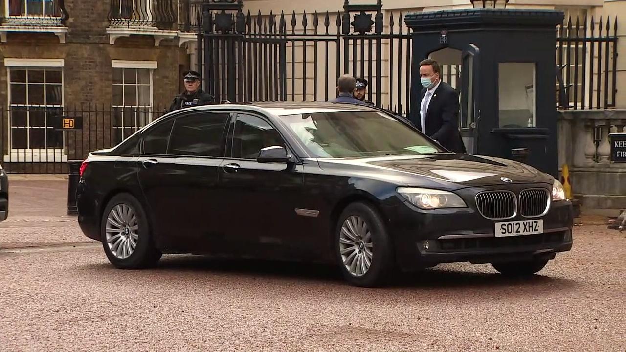 Dominic Raab greets Anthony Blinken ahead of G7 meeting