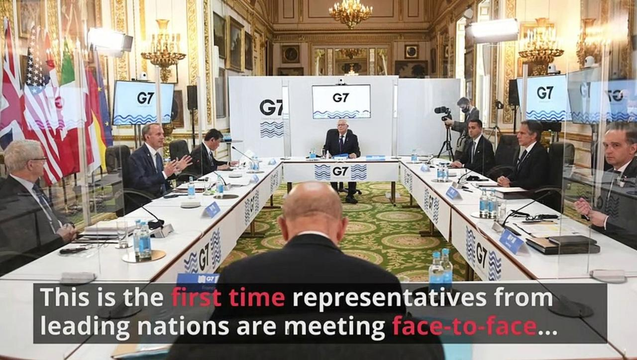 G7 foreign ministers meet in person in over two years