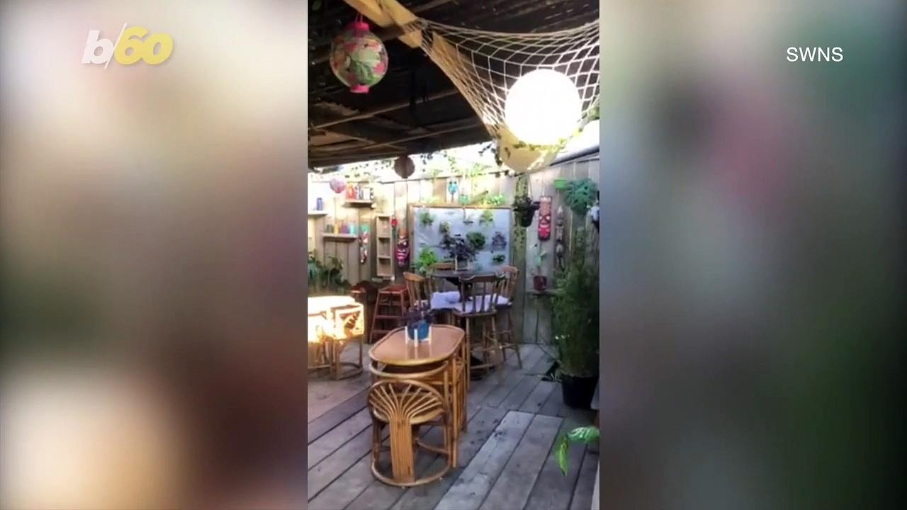 DIY Tiki Bar! UK Man Creates Own Tiki Bar for a Little Over $1,100 During Lockdown!