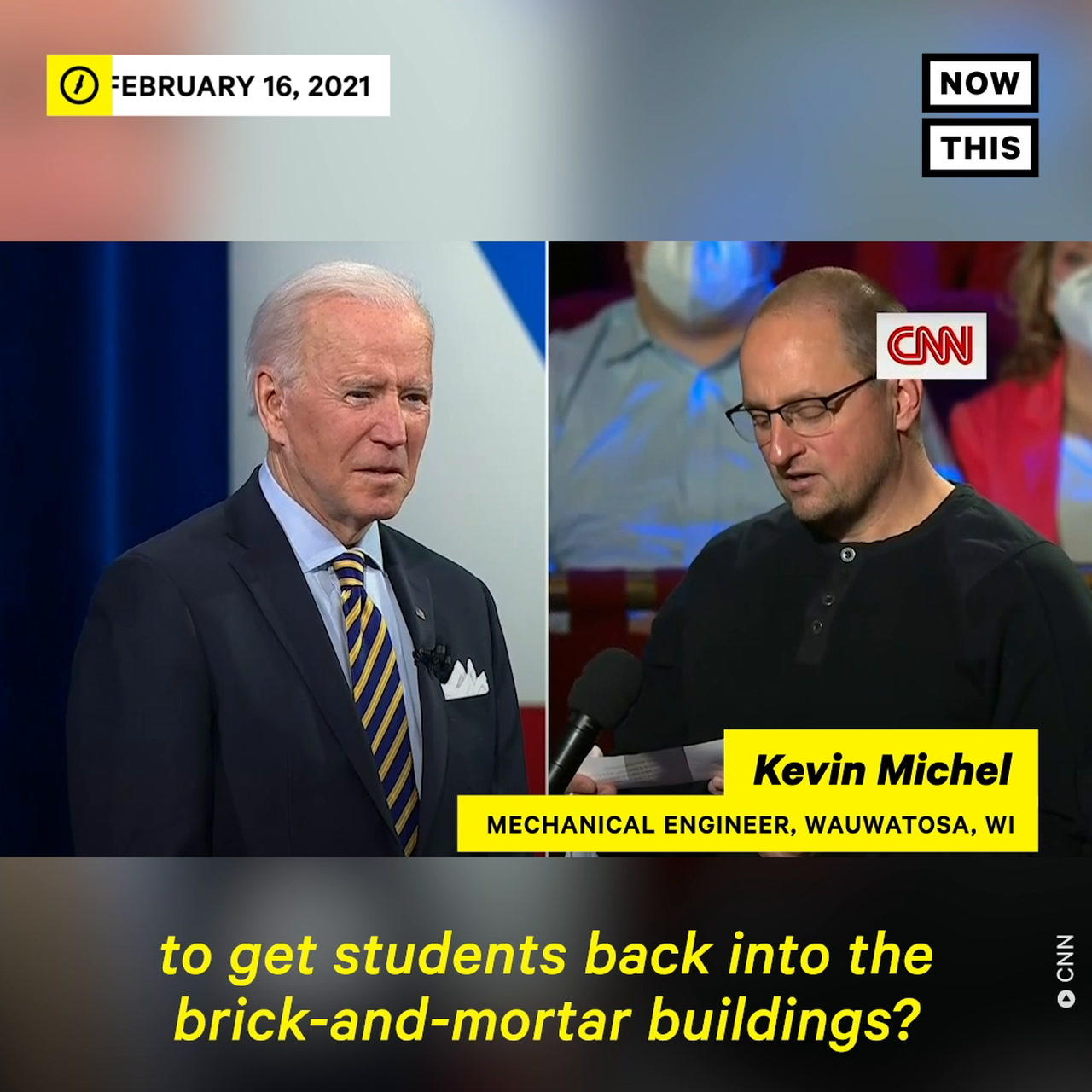 Biden Answers Questions on Returning to School, Timeline For Returning To Normal