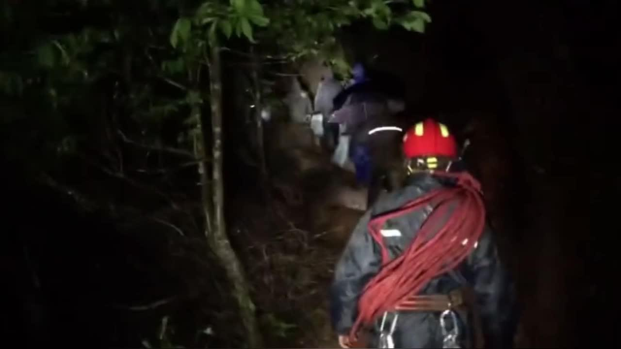 Chinese hikers rescued after heavy rain leaves them trapped in mountains