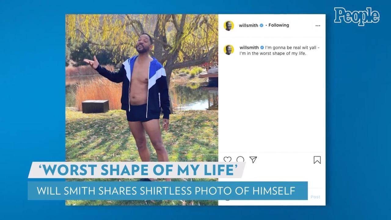 Will Smith Says He's in the 'Worst Shape of My Life' in New Shirtless Photo